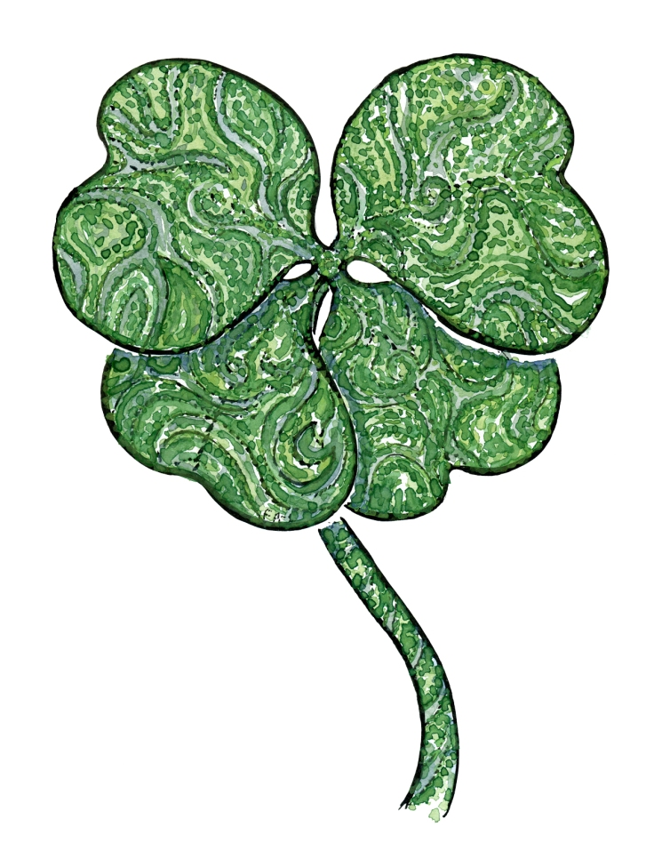 illustration-color-four-leaf-clover-wish-by-frits-ahlefeldt