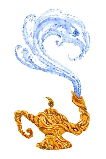 Magical lamp in Watercolor