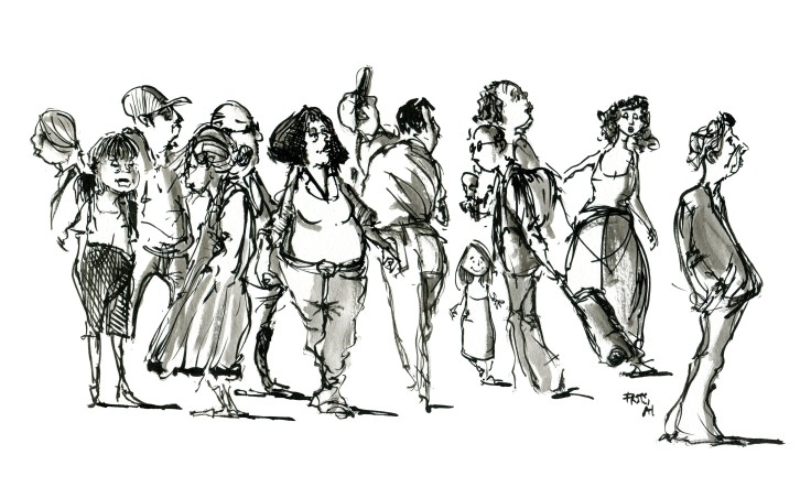 Group of people - live sketch