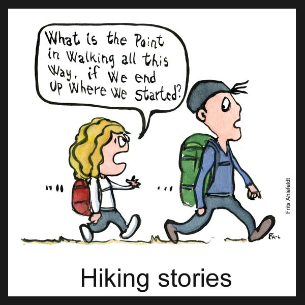 Drawn journalism hiking - click on image to see